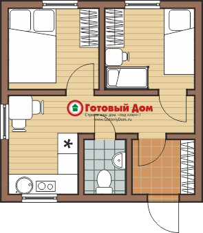 Другой вариант планировки дома за миллион рублей