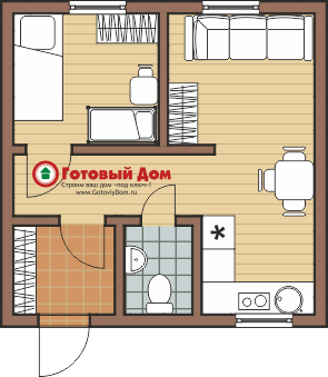 Вариант планировки дома за миллион рублей