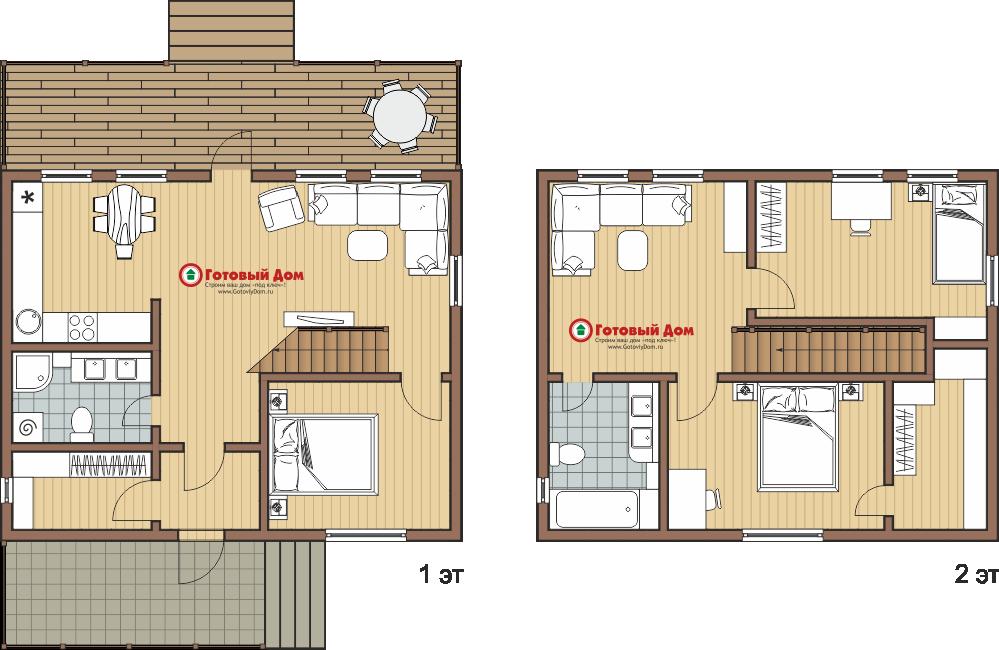 Дом 9х7 2 этажа каркасный дом под ключ