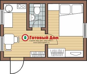 Одноэтажный дом 6х4 своими руками
